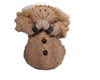 "Birch Maison Decorative Primitive / Farmhouse Standing Puffy Chenille Snowlady-Angel with Fabric Wing, Mittens and Ear-Muffs, Off White - 11"" Tall"