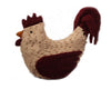 "Birch Maison Decorative Primitive / Farmhouse Chenille Rooster Figurine - 15"" Long"