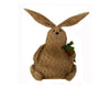 "Birch Maison Decorative Primitive / Farmhouse  Chubby Chenille Fabric Rabbit with Carrot - 13"" Tall"