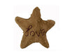 "Birch Maison Decorative Primitive / Farmhouse Chenille Décor  Star ""Love"", Tan / Brown - 11"" Tall"