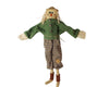 "Birch Maison Decorative Primitive / Farmhouse Standing Skinny Fabric Scarecrow With Real Straw Hat, Checkered Fabric Scarf and Pants with Pumpkin Patch - 29"" Tall"