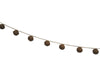 "Birch Maison Decorative Primitive / Farmhouse Yarn Garland with 9 Rusty Tin Bells - 36"" Long"