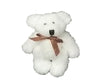 "Birch Maison Decorative Primitive / Farmhouse Plushy Fabric Mini Bear, White - 2.5"" Tall"