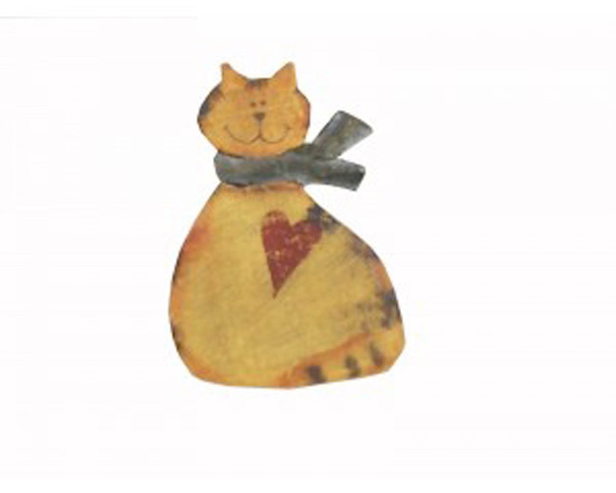 "2"" WOODEN CAT PIN  Craft Outlet"