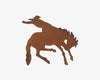 "Birch Maison Decorative Primitive / Farmhouse Flat Tin Cut Out ""Bucking Horse with Rider"", Rustic - 4"" Tall"