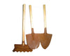 "S/3 RUSTIC GARDEN TOOLS LRG 5""LX2.75""W  Craft Outlet"