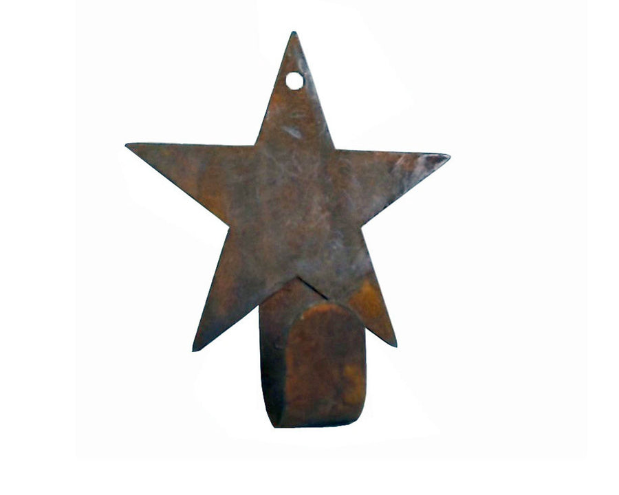 "Birch Maison Decorative Primitive / Farmhouse Tin Star Hanger, Ornament, Rustic - 4.5"" Tall"