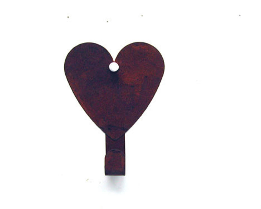 "Birch Maison Decorative Primitive / Farmhouse Tin Heart Hanger, Ornament, Rustic - 5.25"" Tall"
