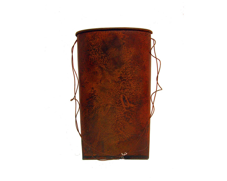 "Birch Maison Decorative Primitive / Farmhouse Tin Bag, Rustic - 12"" Tall"