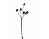 "Birch Maison Decorative Primitive / Farmhouse Tin Stars on Wire Stick, Rustic - 8"" Tall"