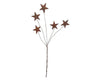 "Birch Maison Decorative Primitive / Farmhouse Puffy Tin Stars on Wire Stick, Rustic - 10"" Tall"