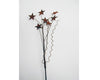 "Birch Maison Decorative Primitive / Farmhouse Tin Stars on Wire Stick, Rustic - 10"" Tall"