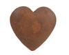 "Birch Maison Decorative Primitive / Farmhouse Puffy Tin Heart, Rustic - 5"" Tall"