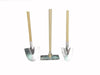 "Birch Maison Decorative Primitive / Farmhouse Mini Tool Set with Wooden Sticks and Galvanized Ends, Set of 3 - 4"" Tall"