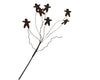 "Birch Maison Decorative Primitive / Farmhouse Puffy Tin Gingerbread Men on a Wire Stick, Rustick - 13"" Tall"