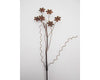 "Birch Maison Decorative Primitive / Farmhouse Puffy Tin Snowflakes on a Wire Stick, Rustic - 13"" Tall"