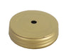 "Tin Screw-On Jar Lid with Hole - 3.25""Dia"