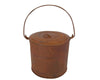 "Birch Maison Decorative Primitive / Farmhouse Tin Container with Lid and Handle, Rustic - 4.5"" Tall"