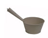 "Birch Maison Decorative Primitive / Farmhouse Tin Cooking Pot with Long Handle, Off-White - 11.5"" Tall"