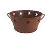 "7.5"" DIM RUSTIC TIN BASE/STAR CUTOUT  Craft Outlet"