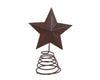 "8.5"" RUSTIC TIN STAR ON WIRE  Craft Outlet"