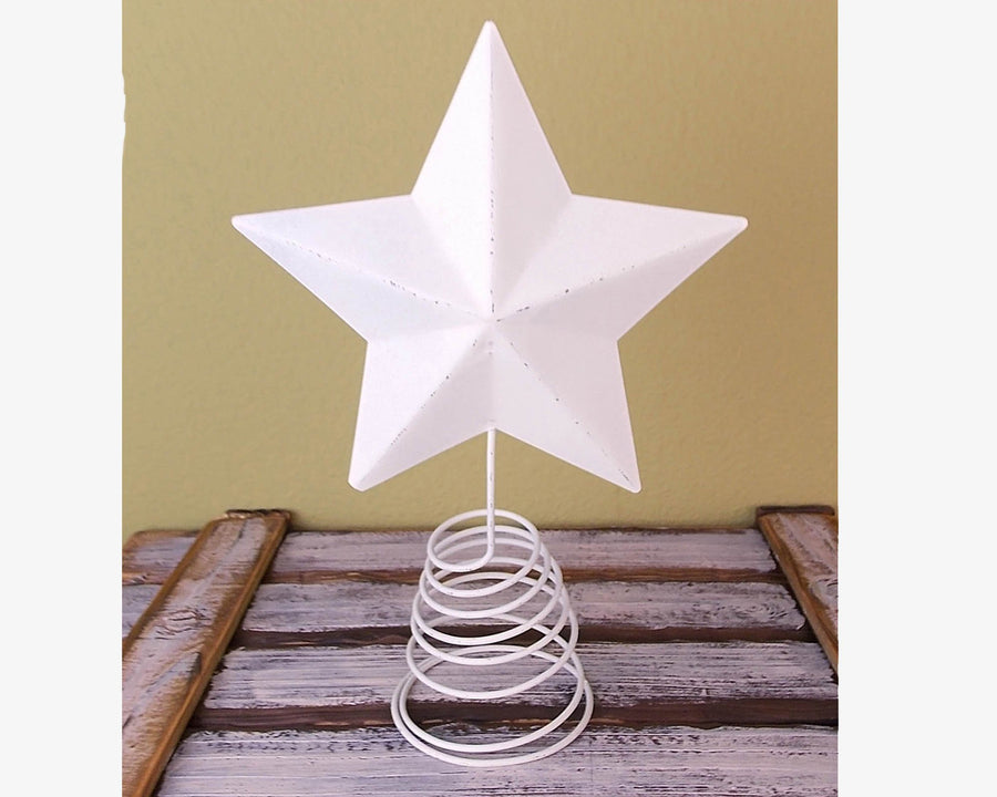 "12.5"" TIN STAR ON WIRE, BARN RED  Craft Outlet"