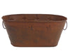 "Birch Maison Decorative Primitive / Farmhouse Tin Container with Stars, Rustic - 4.5"" Tall"