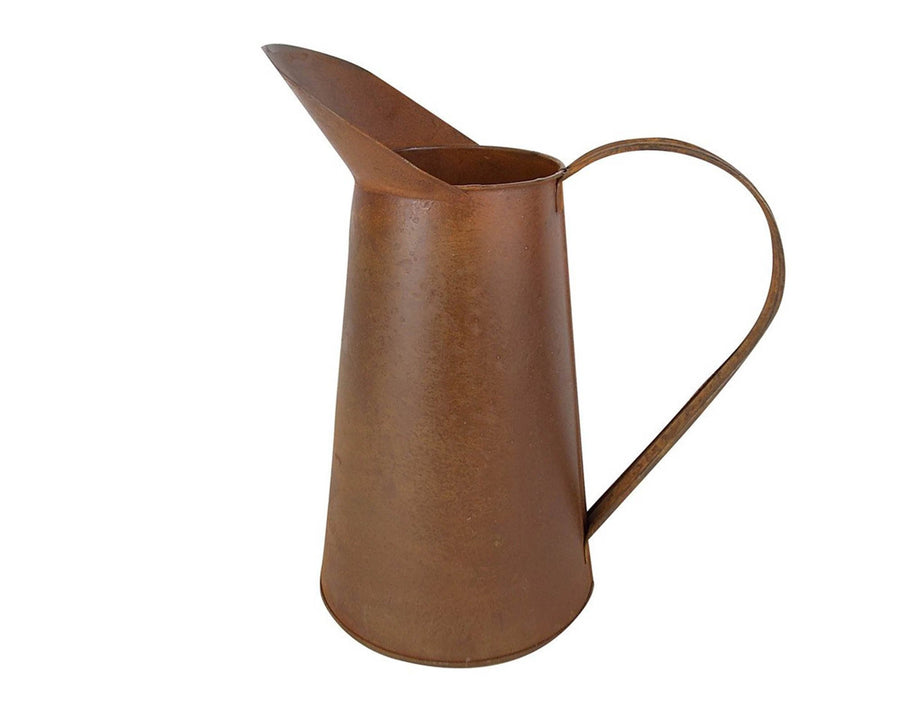 "TIN PITCHER 11""H, 2 TONES  Craft Outlet"