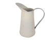 "Birch Maison Decorative Primitive / Farmhouse Tin Pitcher, Off-White - 11"" Tall"
