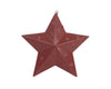 "PUNCHED STAR, 7"" BARN RED  Craft Outlet"