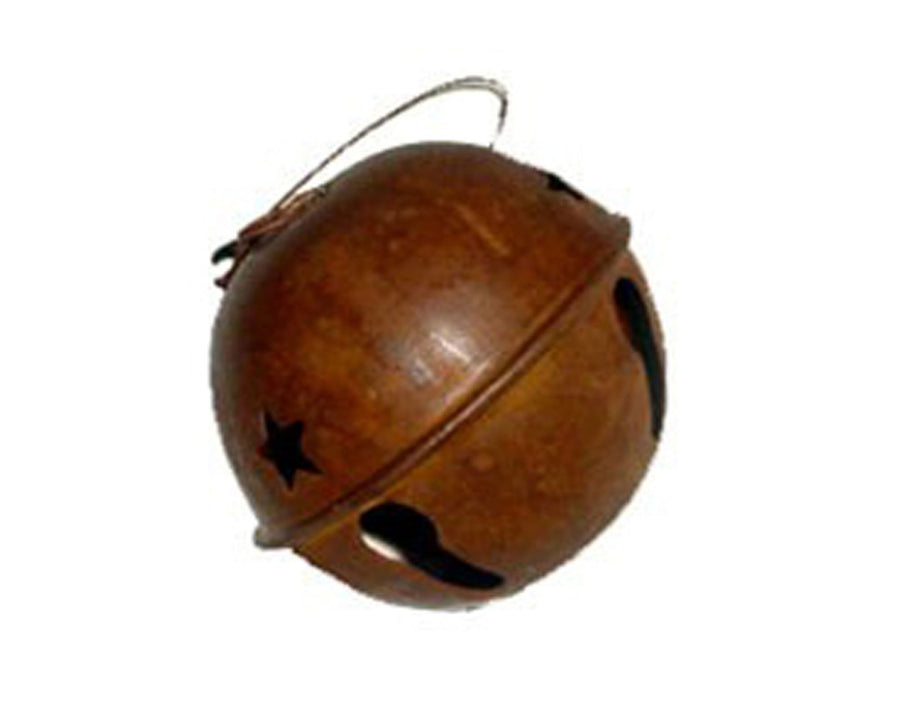 "Birch Maison Decorative Primitive / Farmhouse Tin Bell Ornament, Rustic - 3.25"" Dia"