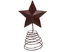 "8.5"" TIN STAR ON WIRE, BARN RED  Craft Outlet"