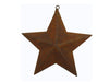 "Birch Maison Decorative Primitive / Farmhouse Tin Star Ornament, Rustic - 4.75"" Tall"