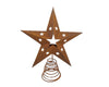11'' TIN STAR TREE TOPPER W/LIGHT HOLDER, RUSTIC  Craft Outlet