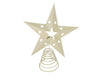11'' TIN STAR TREE TOPPER W/LIGHT HOLDER,OFF WHITE  Craft Outlet
