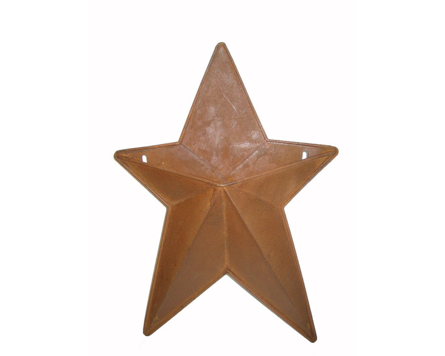"Birch Maison Decorative Primitive / Farmhouse Tin Country Star with Pocket, Rustic - 12"" Tall"
