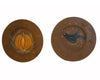 "Birch Maison Decorative Primitive / Farmhouse Tin Plates ""Fall"" with Crow and Pumpkin, Set of 2, Assorted - 6"" Dia"