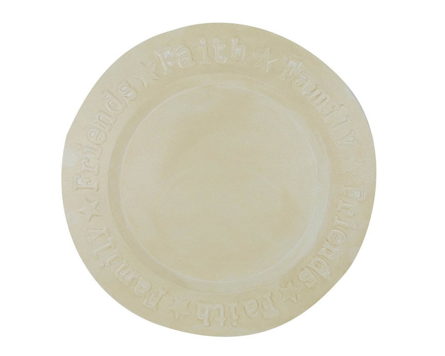 """ FAITH,FAMILY,FRIEND"" BLACK 12"" PLATE  Craft Outlet"
