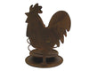 "Birch Maison Decorative Primitive / Farmhouse Tin Rooster Candle Holder, Rustic - 6"" Tall"