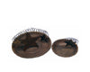 "Birch Maison Decorative Primitive / Farmhouse Tin Candle Plate, Rustic, Set of 2 - 7"" Dia & 4.25"" Dia"