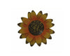 "Birch Maison Decorative Primitive / Farmhouse Tin Daisy Flower Magnets, Yellow, Assorted, Set of 4 - 4""  Tall"