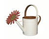 "Tin Watering Can, Green / Yellow - 9""H"