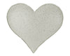 "TIN PUFF HEART OFF WHITE (LG) 7""  Craft Outlet"
