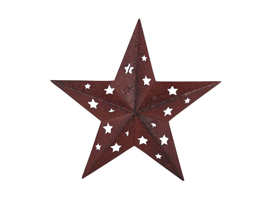 "BLACK TIN STAR W/CUT OUTS (LG) 6""  Craft Outlet"