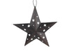 "Tin Star with Star Cut Outs, - 6""H"