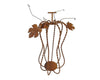 Tall Rusty Tin Pumpkin Tea Light/Candle Holder, Made of Wire with Leaves and Bells, Rustic