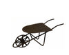 "Birch Maison Decorative Primitive / Farmhouse Tin Wheel Barrow, Rustic - 4"" Tall"