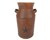 MILK CAN W/ STAR  13.75'' RUSTIC  Craft Outlet