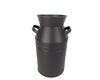 MILK CAN BLACK 11''  Craft Outlet