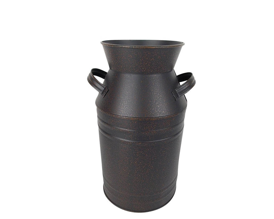 MILK CAN BLACK 13.75''  Craft Outlet